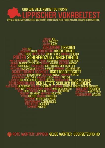 Wortposter Lippe: Lippischer Vokabeltest