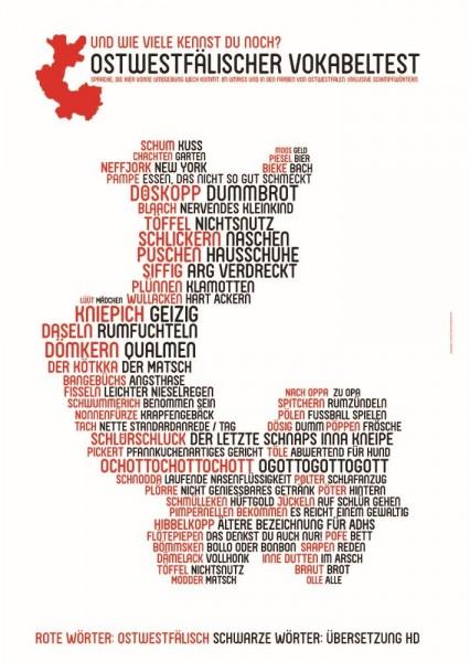 Wortposter Ostwestfalen: Ostwestfälischer Vokabeltest