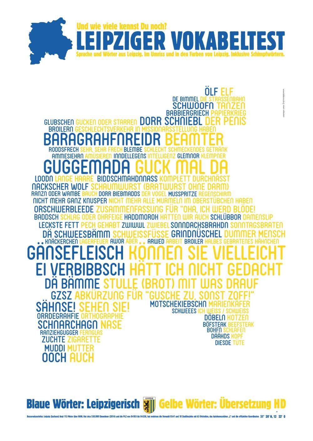Wortposter Leipzig Leipziger Vokabeltest Lektora